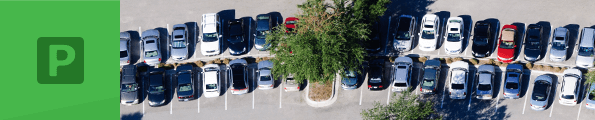 A full car park seen from above