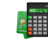 Credit cards and calculator