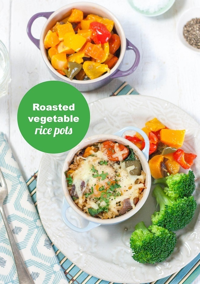 Roasted Vegetable Rice Pots Front