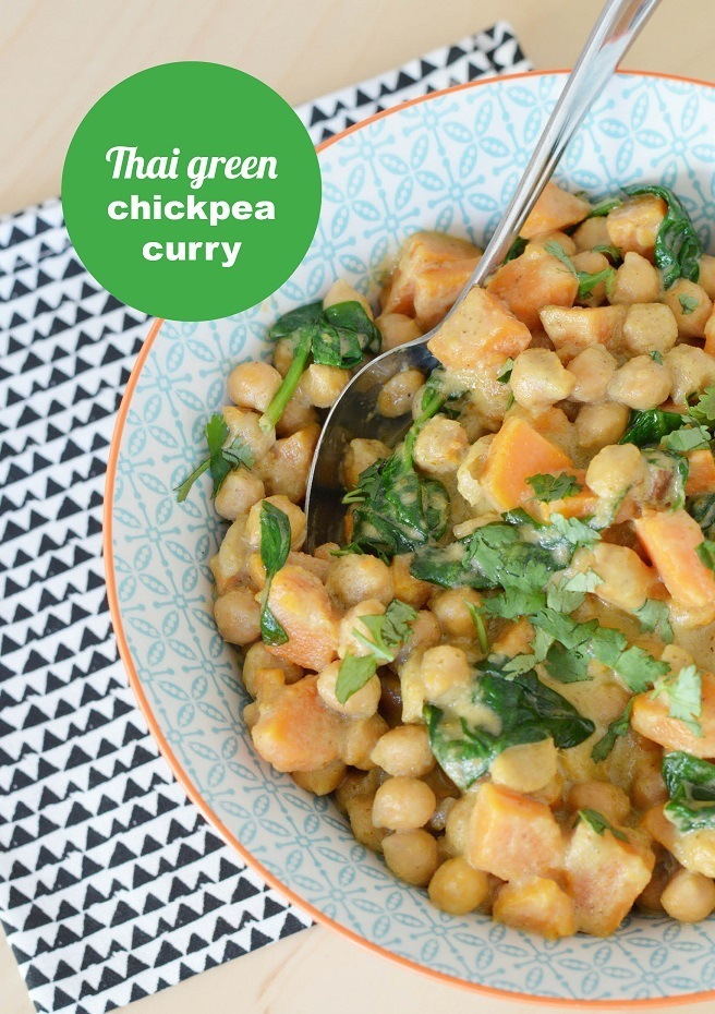 Thai Green Chickpea Curry Front