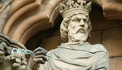 Carving of King John