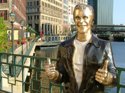 Statue of the Fonz