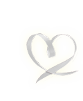 Ribbon shaped like a heart
