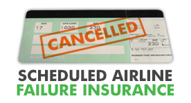 Scheduled airline failure insurance