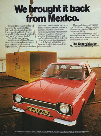 Old Ford Escort ad