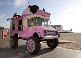 Massive ice cream van