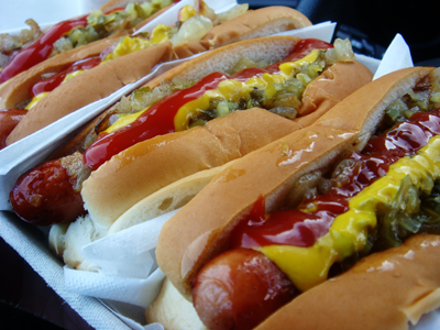Picture of hot dogs