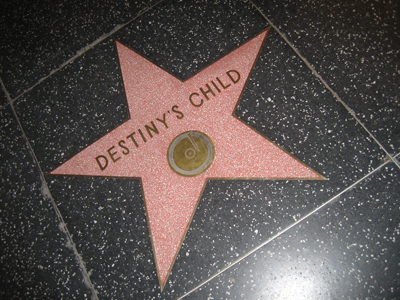 Destiny's Child's star on the walk of fame