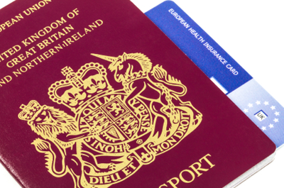 Image of EHIC and passport