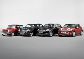 Line-up of Mini history