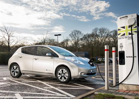 Image of Nissan Leaf chargning