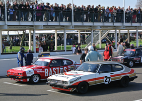 Image of Ford Capris at Goodwood 72mm