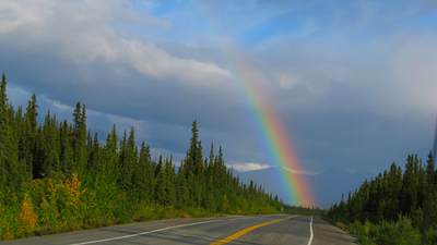 Image of road in Alaska