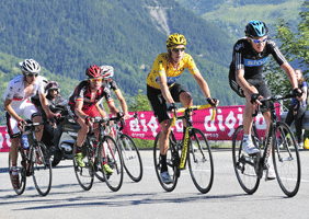 Chris Froome and Bradley Wiggins lead the way in the Tour de France