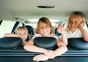 Image of kids in a car