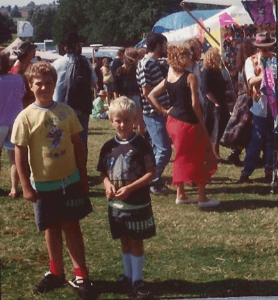 Image of Dave, aged 10, at a festival
