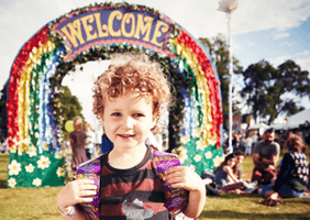 Image of a kid at Camp Bestival