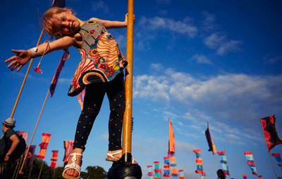 Image of kid at Camp Bestival