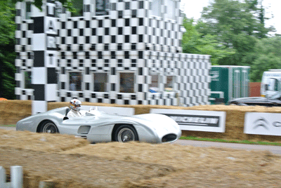 Image of old Mercedes at Goodwood Festival of Speed