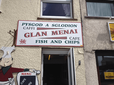 Glan menai fish and chips