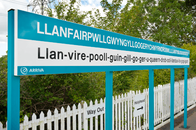 Llanfair sign