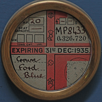 Image of old tax disc