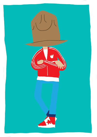 Illustration of Pharrell