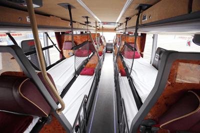 Megabus interiror