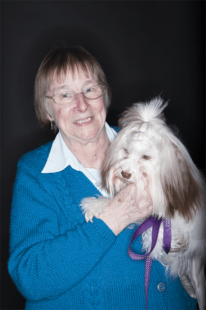 Owner and dog and Crufts