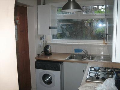 Image of a cramped kitchen