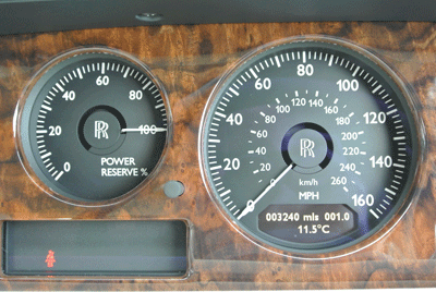 Image of Rolls-Royce power reserve guage