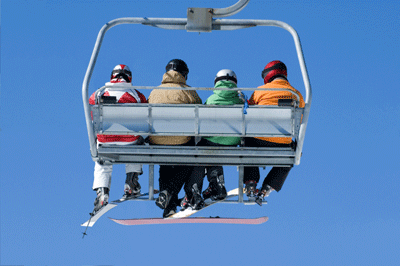 Image of people on Chairlift