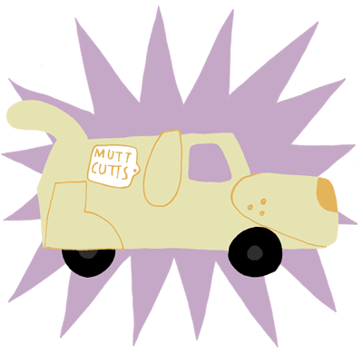 Image of cartoon dog van from dumb & dumber