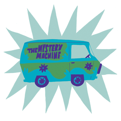Image of the Mystery Machine from Scooby Doo