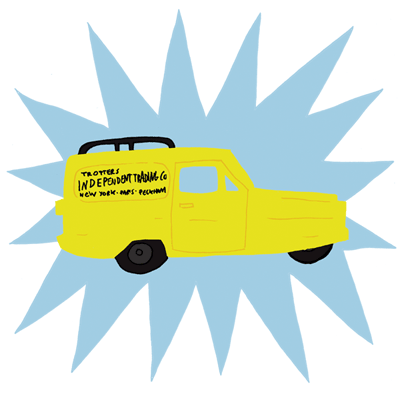 Image of Cartoon del boy van