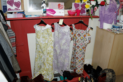 A photo of dresses for sale