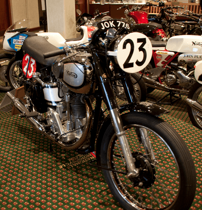A vintage Norton motorcycle