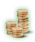 Isas: Pile of coins