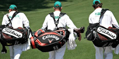 Caddies at the Masters (Image: Thornhill GCC, Twitter)