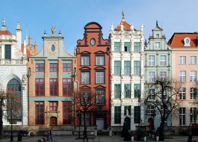 A photo of buildings in Gdansk