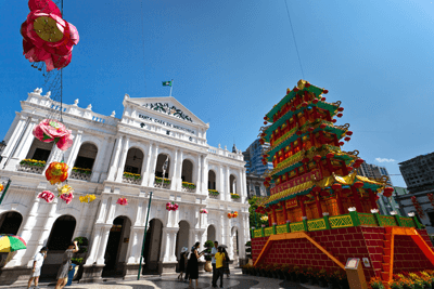 A photo of Portugese and Chinese culture combining in Macau