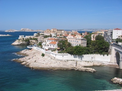 A photo of the Marseille coast