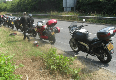 Motorbikes with lots of touring luggage