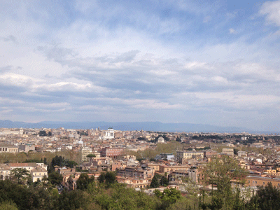 View from hill in Rome