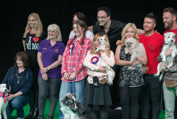 The finalists of Superdogs Live