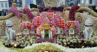 Image of the Thailand Land of Buddhism display
