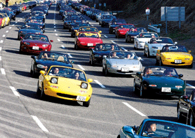 Image of many MX-5s