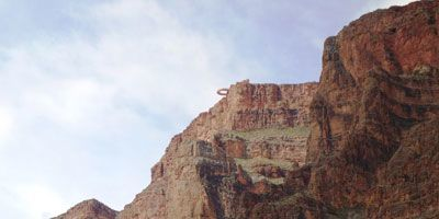 Grand Canyon Skywalk seen from below