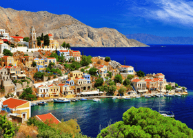 Symi in the Dodecanese Islands, Greece