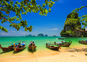 Image of a beach in Thailand
